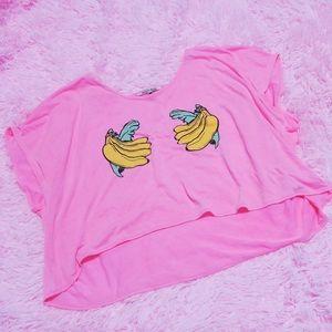 Wildfox Bananas Crop Top